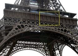 Надписи на Эйфелевой башне